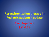 Resynchronization therapy in Pediatric patients - update